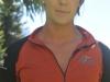 PEMBA Long Sleeve Zip-Neck Front2 Burnt Orange